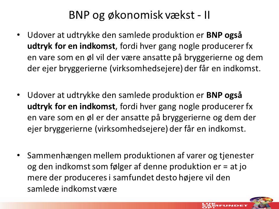 BNP og økonomisk vækst - II