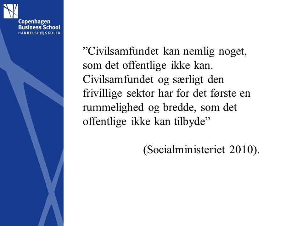 Civilsamfundet kan nemlig noget, som det offentlige ikke kan