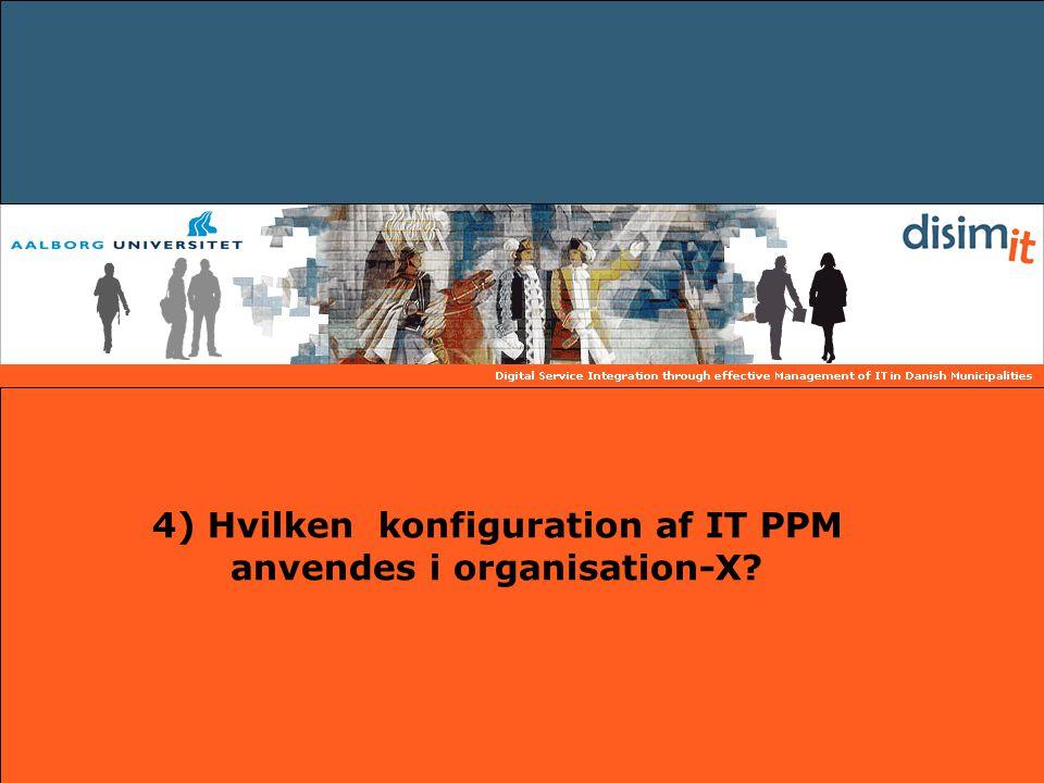 4) Hvilken konfiguration af IT PPM anvendes i organisation-X