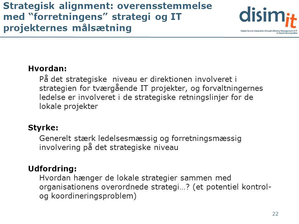 Strategisk alignment: overensstemmelse med forretningens strategi og IT projekternes målsætning