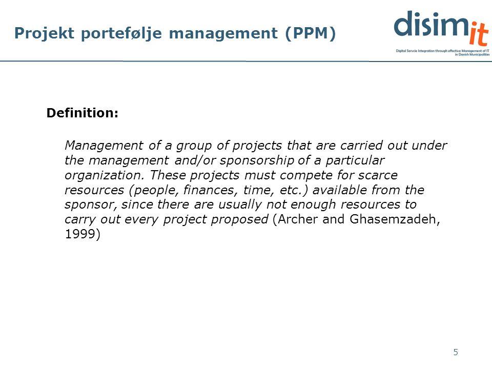 Projekt portefølje management (PPM)