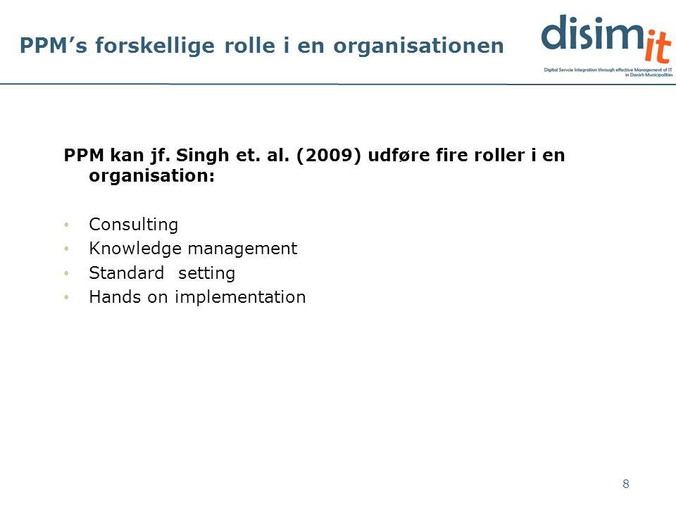 PPM's forskellige rolle i en organisationen