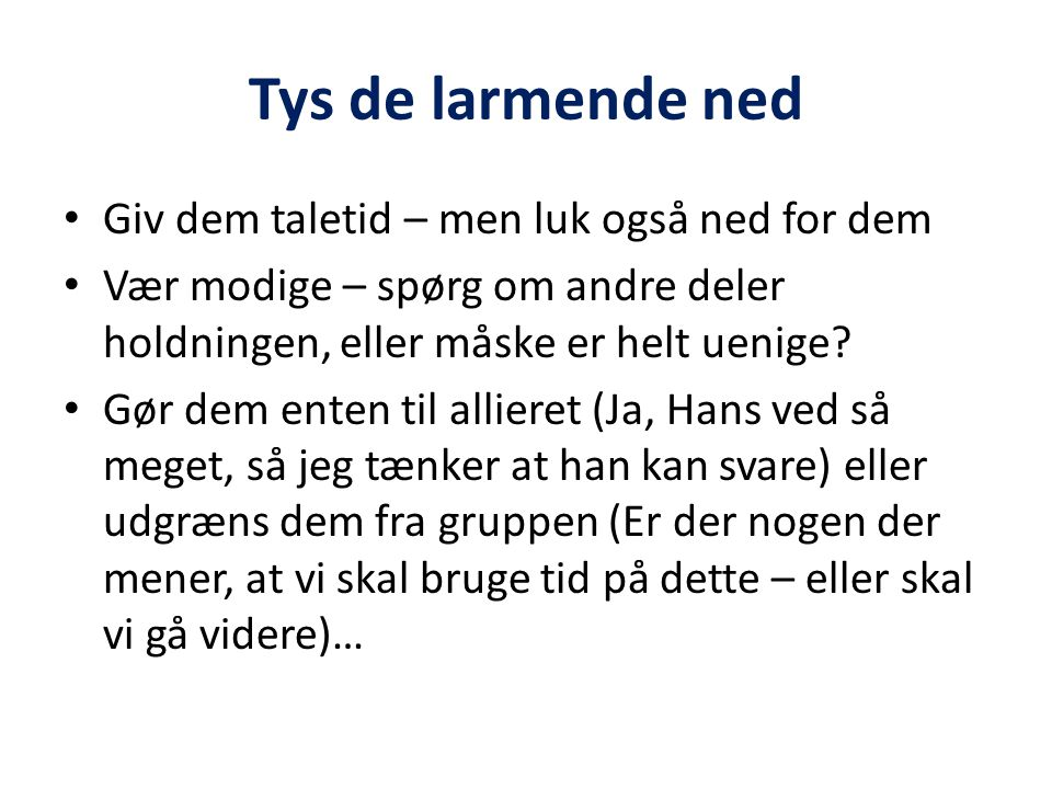 Tys de larmende ned Giv dem taletid – men luk også ned for dem