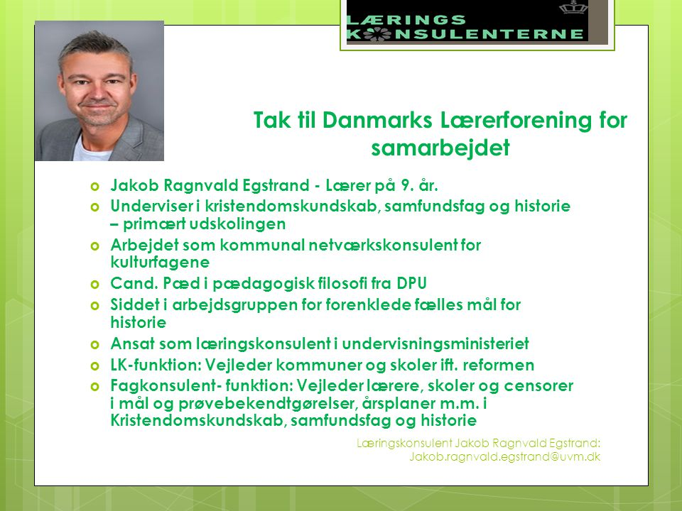 Tak Til Danmarks Laererforening For Samarbejdet Ppt Video Online