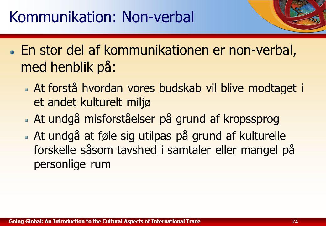 Kommunikation: Non-verbal