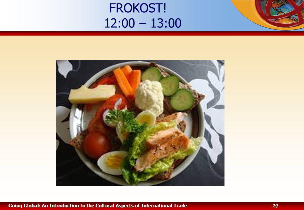 FROKOST! 12:00 – 13:00