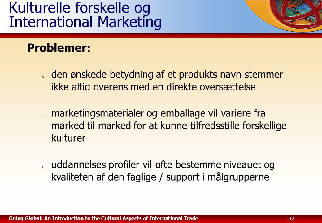 Kulturelle forskelle og International Marketing