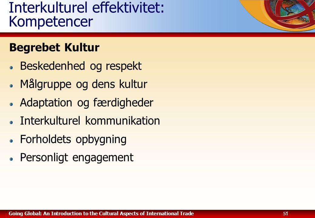 Interkulturel effektivitet: Kompetencer