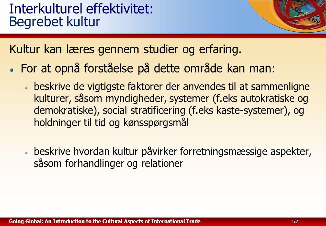 Interkulturel effektivitet: Begrebet kultur
