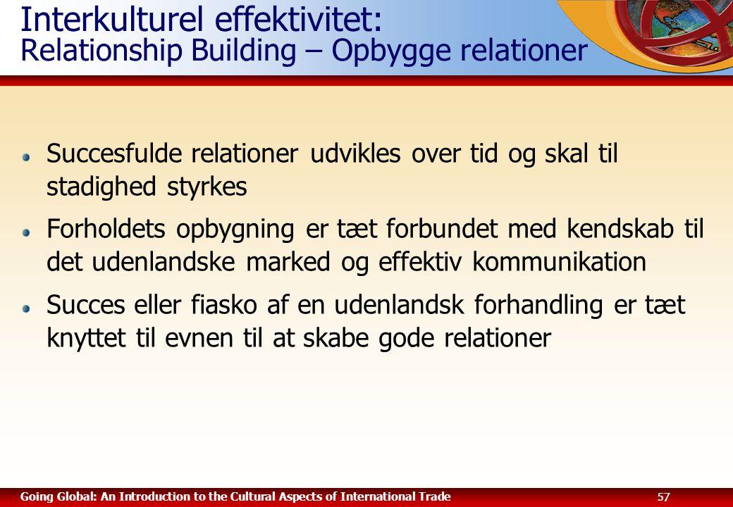 Interkulturel effektivitet: Relationship Building – Opbygge relationer
