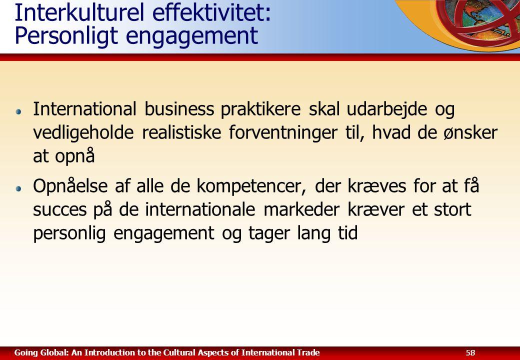 Interkulturel effektivitet: Personligt engagement