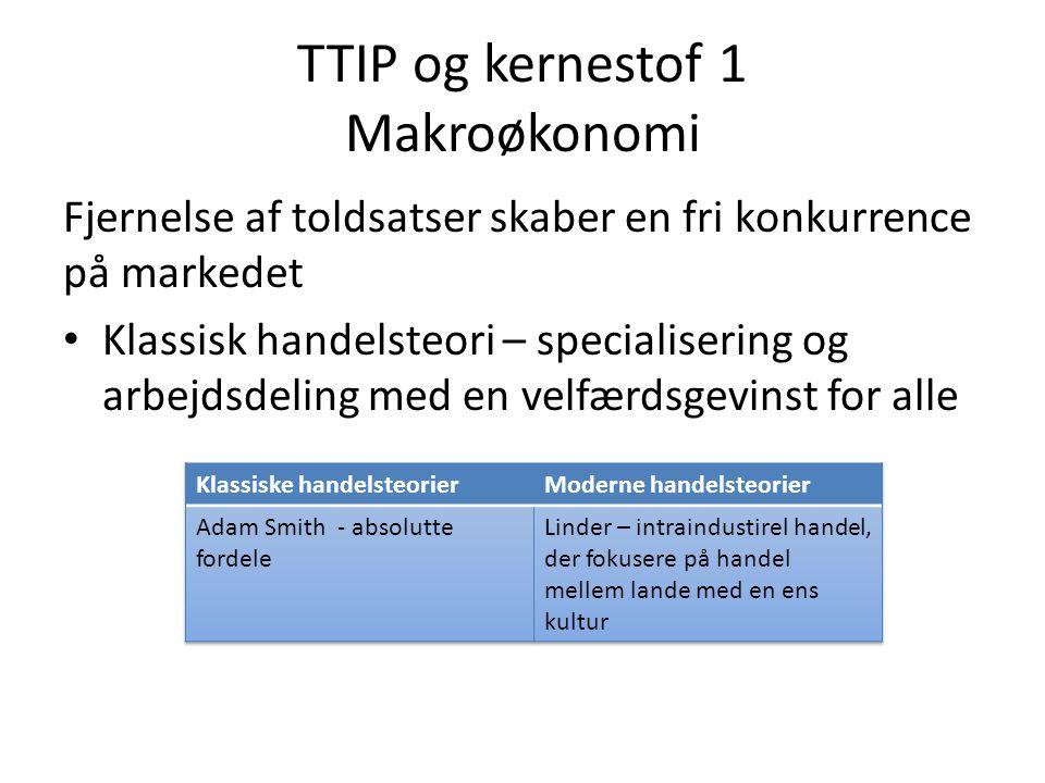 TTIP og kernestof 1 Makroøkonomi
