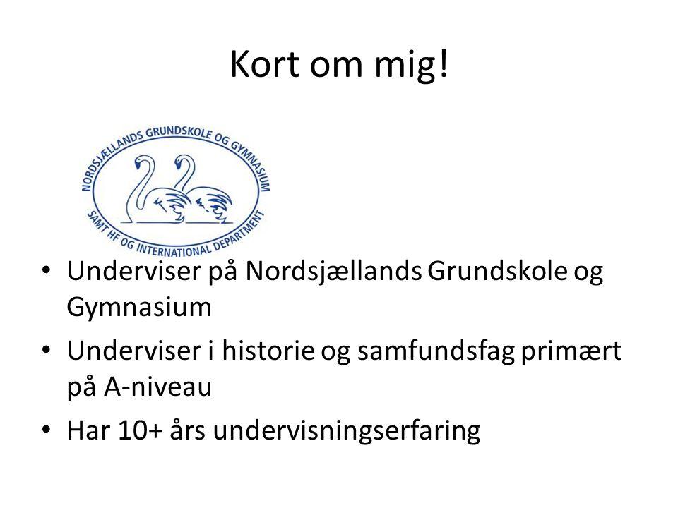 Kort om mig! Underviser på Nordsjællands Grundskole og Gymnasium