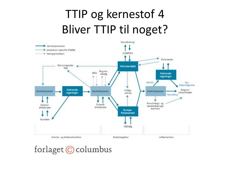 TTIP og kernestof 4 Bliver TTIP til noget