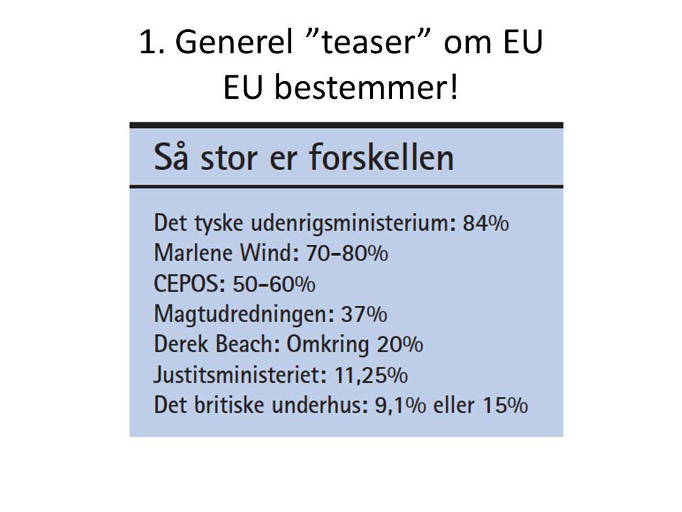 1. Generel teaser om EU EU bestemmer!