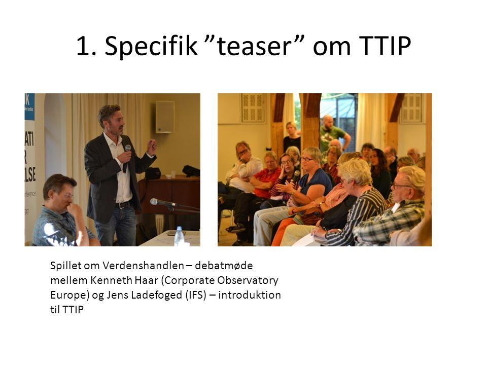 1. Specifik teaser om TTIP