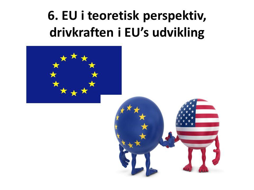 6. EU i teoretisk perspektiv, drivkraften i EU's udvikling