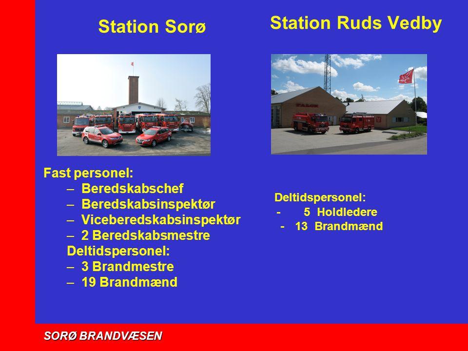 Station Ruds Vedby Deltidspersonel: Station Sorø Fast personel: