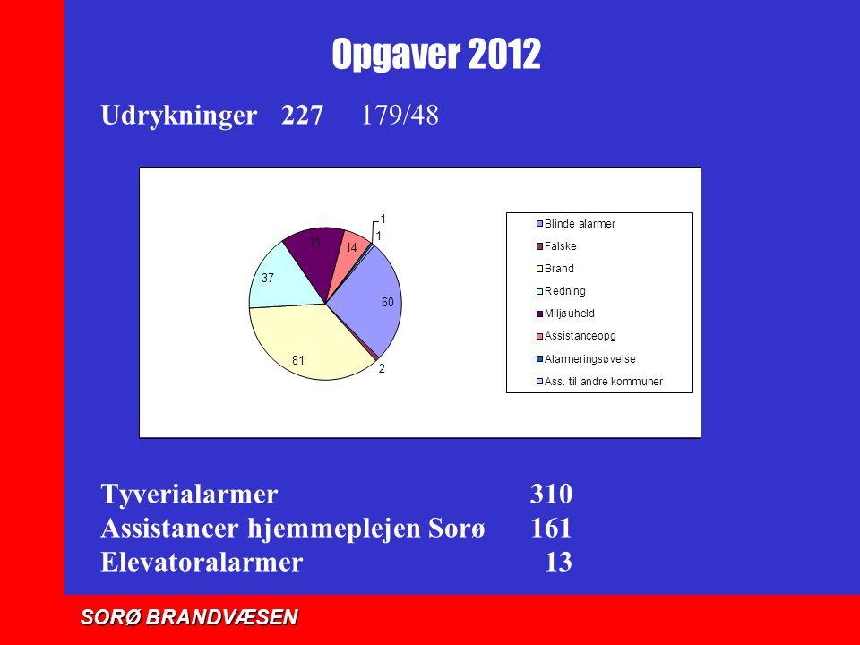 Opgaver 2012 Udrykninger 227 179/48 Tyverialarmer 310