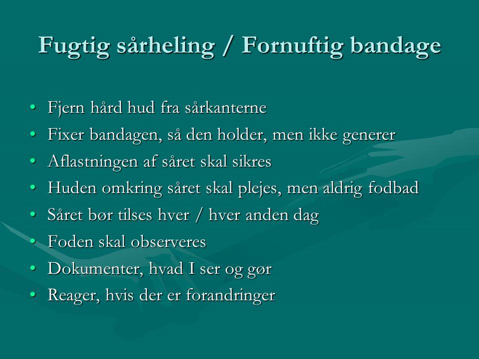 Fugtig sårheling / Fornuftig bandage