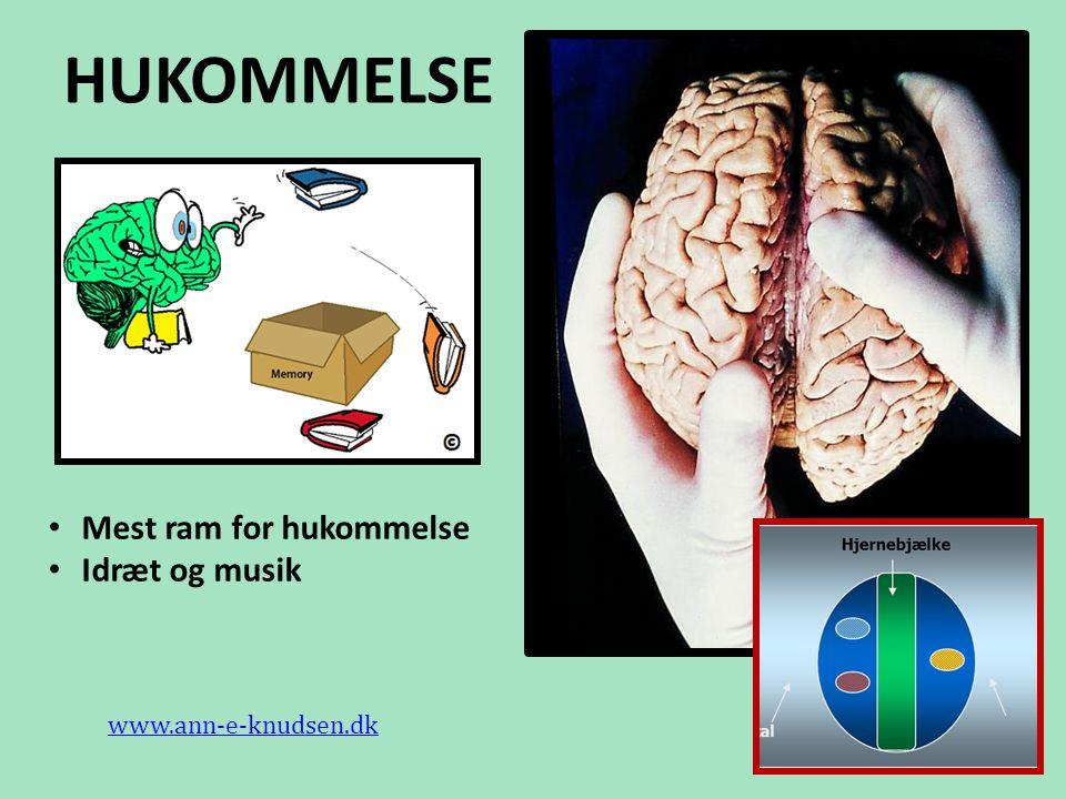 HUKOMMELSE Mest ram for hukommelse Idræt og musik www.ann-e-knudsen.dk