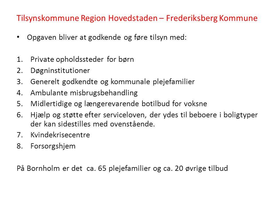 Tilsynskommune Region Hovedstaden – Frederiksberg Kommune