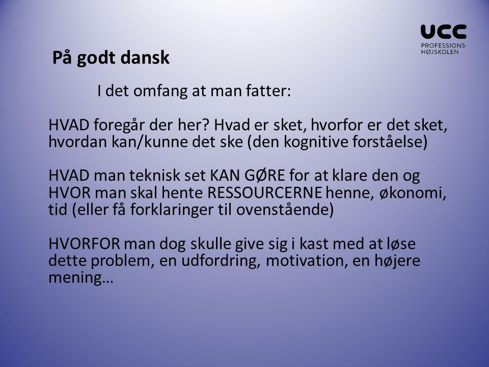 På godt dansk
