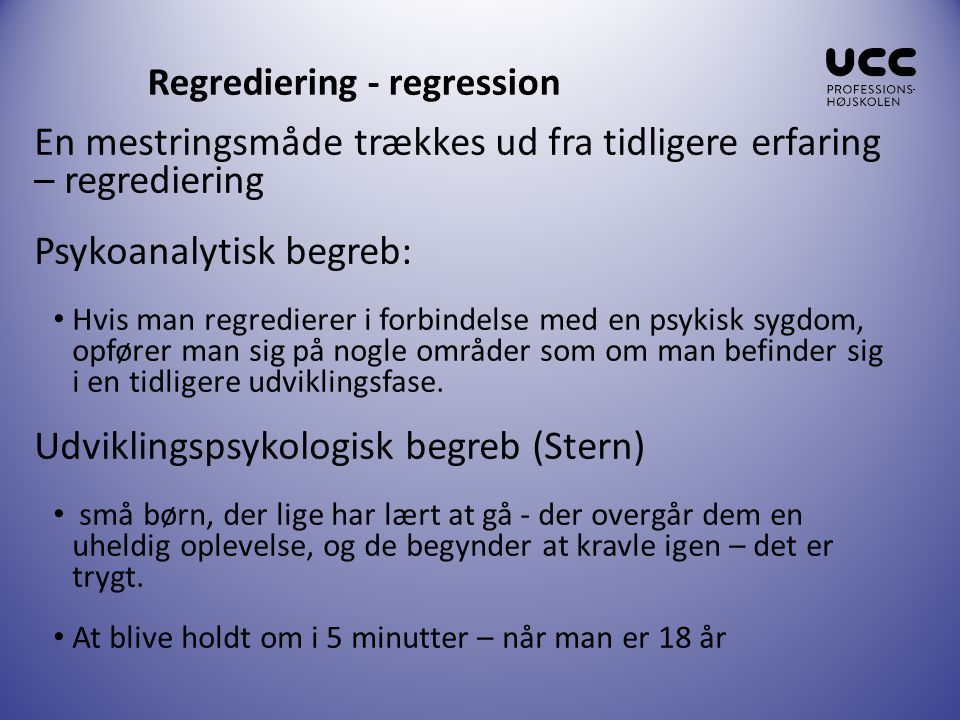 Regrediering - regression