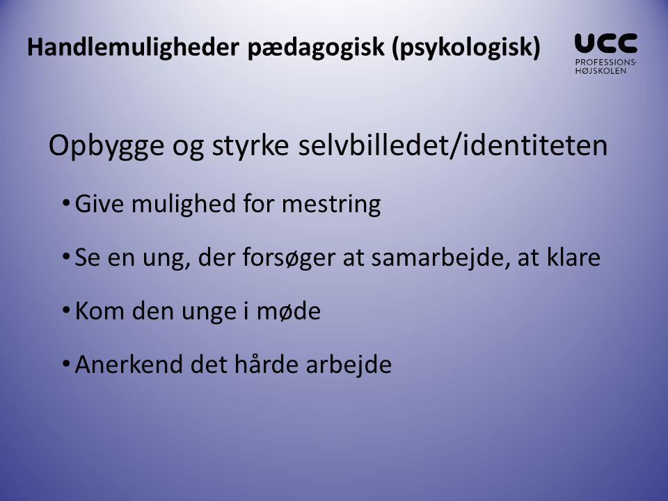 Handlemuligheder pædagogisk (psykologisk)