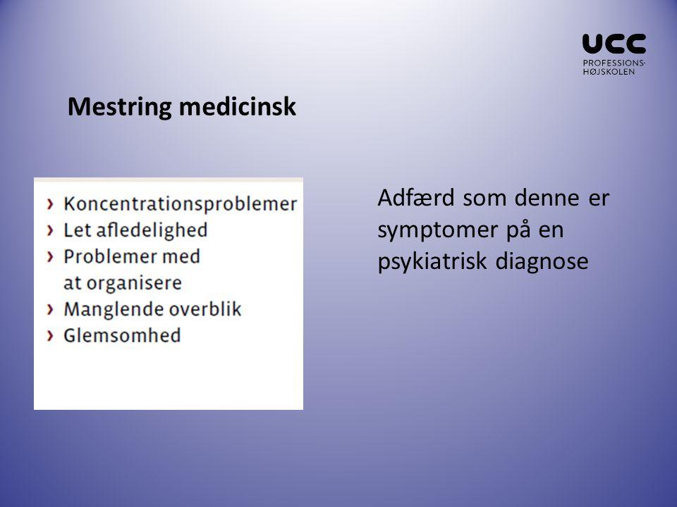 Mestring medicinsk Adfærd som denne er symptomer på en psykiatrisk diagnose