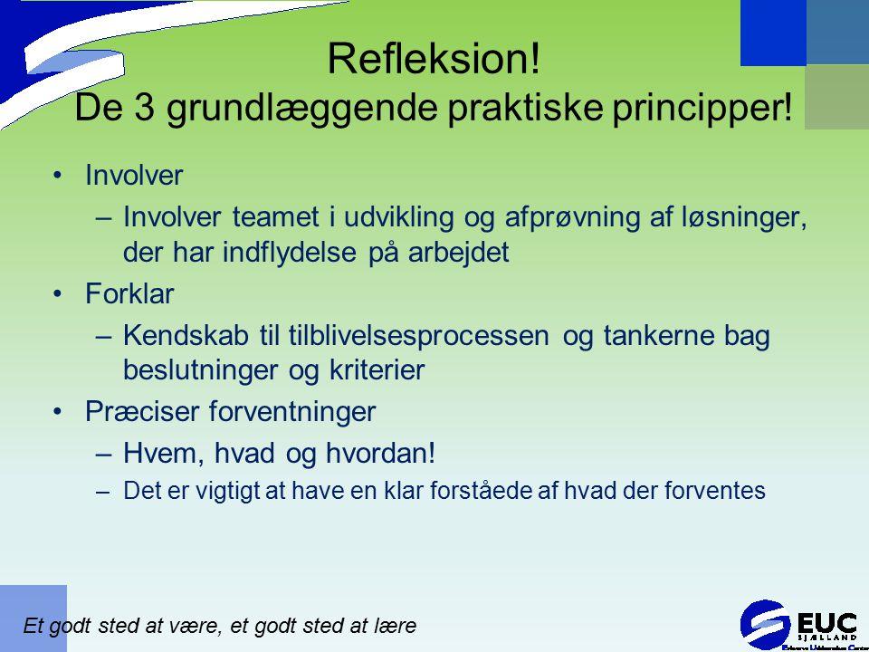 Refleksion! De 3 grundlæggende praktiske principper!