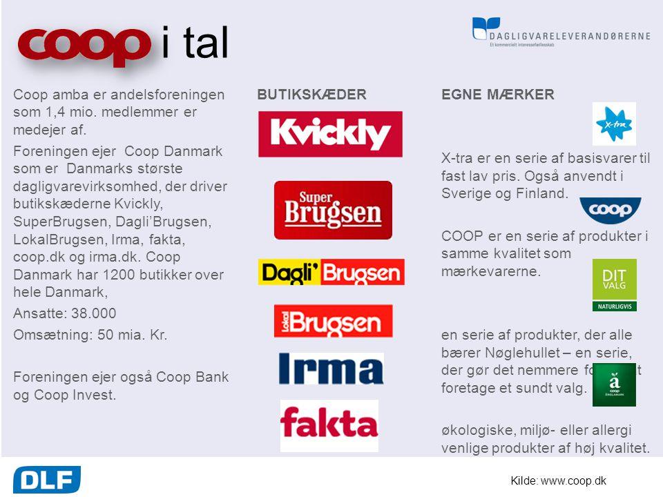 i tal Coop amba er andelsforeningen som 1,4 mio. medlemmer er medejer af.