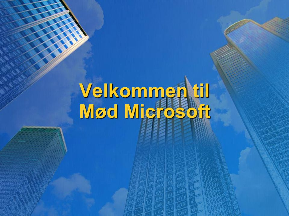 Velkommen til Mød Microsoft