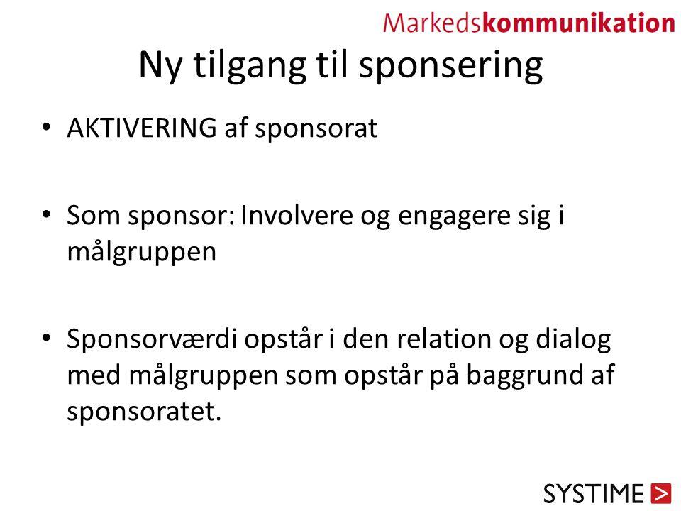 Ny tilgang til sponsering