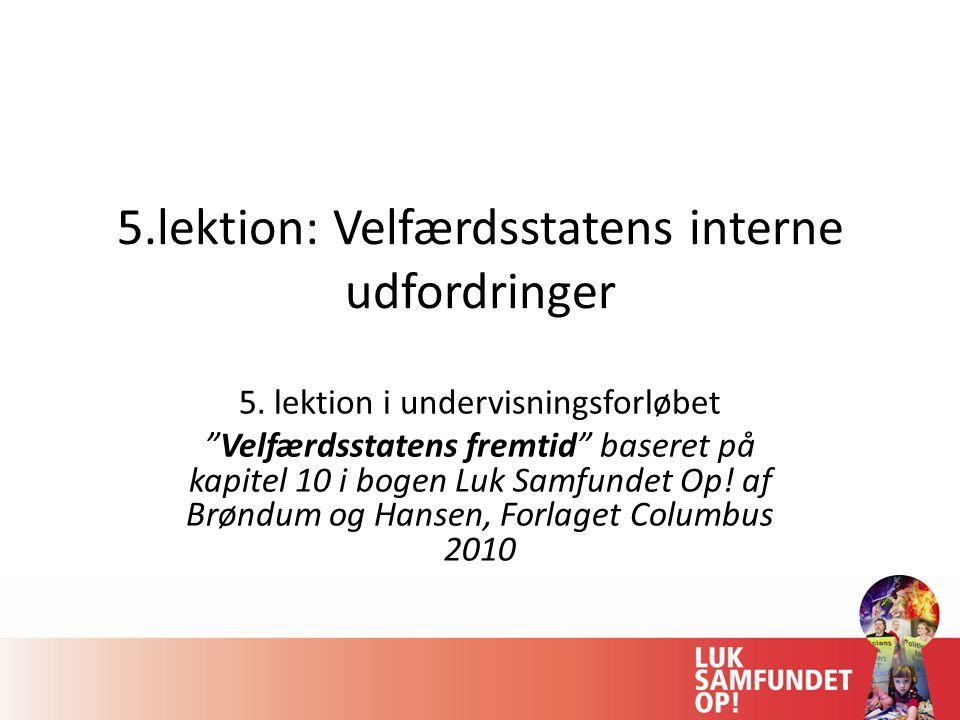5.lektion: Velfærdsstatens interne udfordringer