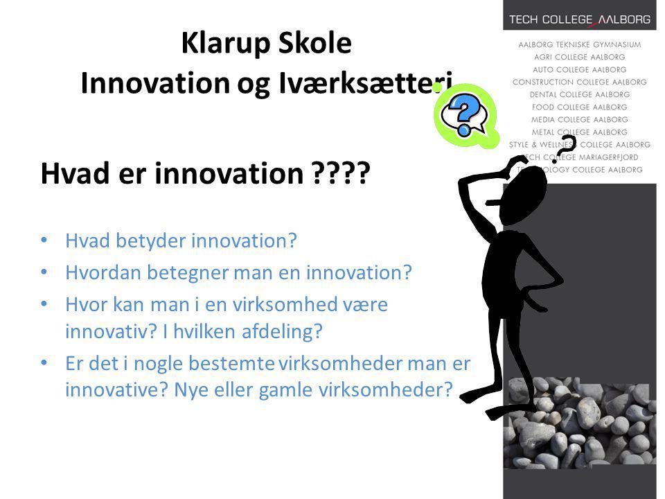 Klarup Skole Innovation og Iværksætteri