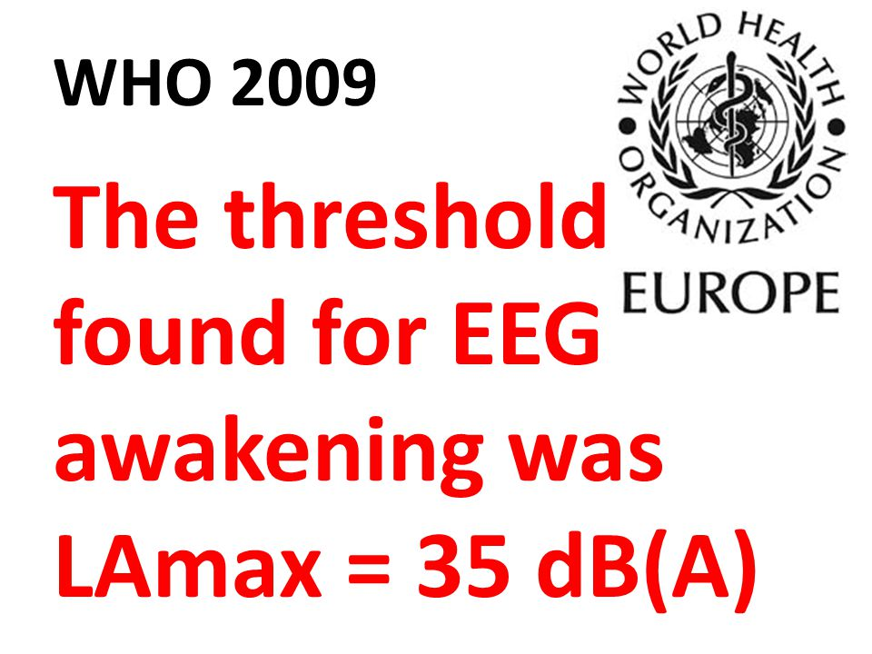 The threshold found for EEG awakening was LAmax = 35 dB(A)