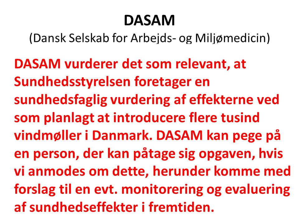 DASAM (Dansk Selskab for Arbejds- og Miljømedicin)