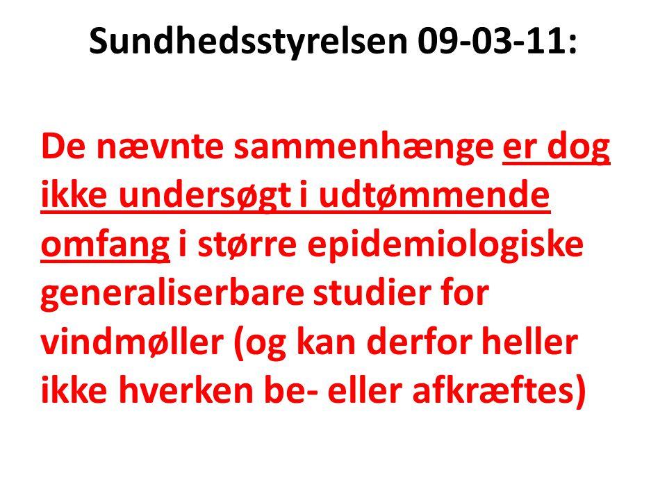 Sundhedsstyrelsen 09-03-11: