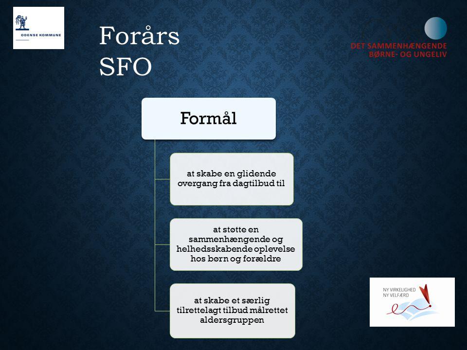Forårs SFO Formål at skabe en glidende overgang fra dagtilbud til