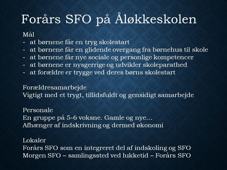 Forårs SFO på Åløkkeskolen
