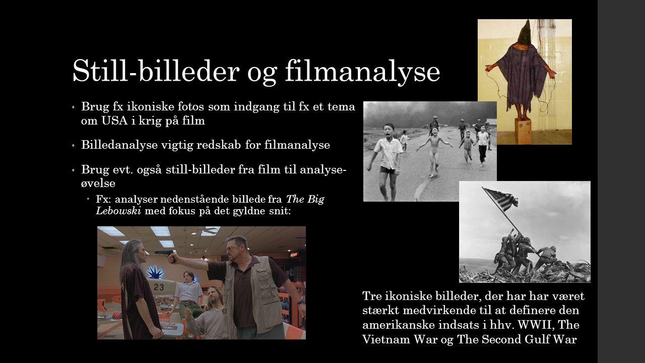 Still-billeder og filmanalyse