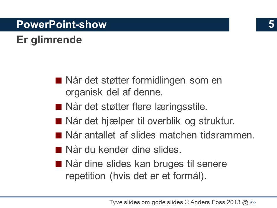 PowerPoint-show Er glimrende