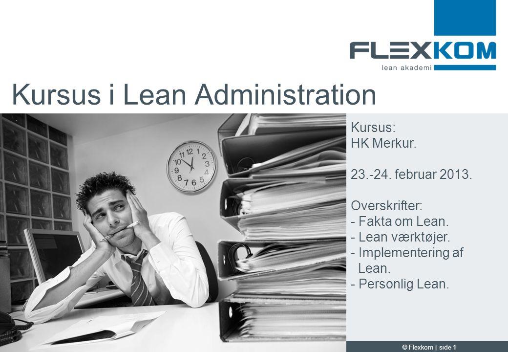 Kursus i Lean Administration