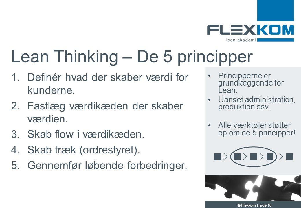 Lean Thinking – De 5 principper