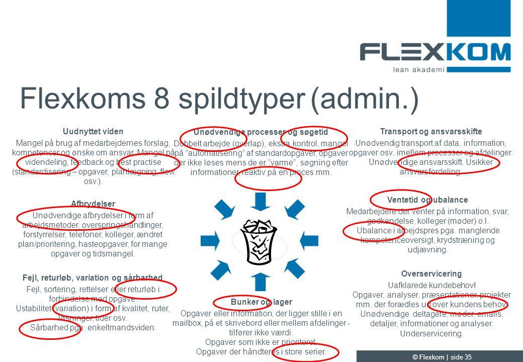 Flexkoms 8 spildtyper (admin.)