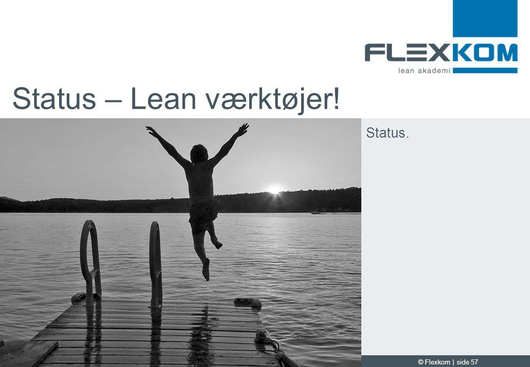 Status – Lean værktøjer!