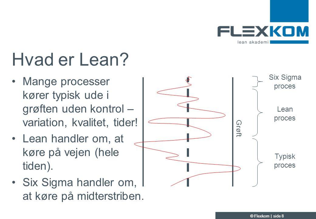Hvad er Lean Mange processer kører typisk ude i grøften uden kontrol – variation, kvalitet, tider!