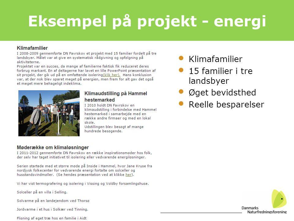 Eksempel på projekt - energi