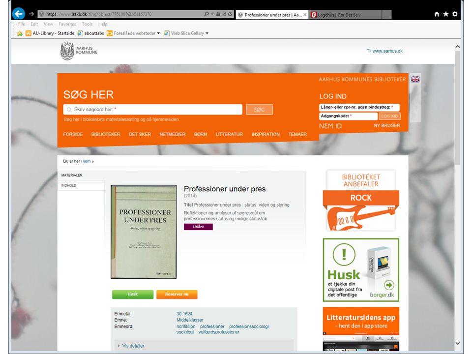 AU Library - Bartholins Allé FMOL – intro E2015